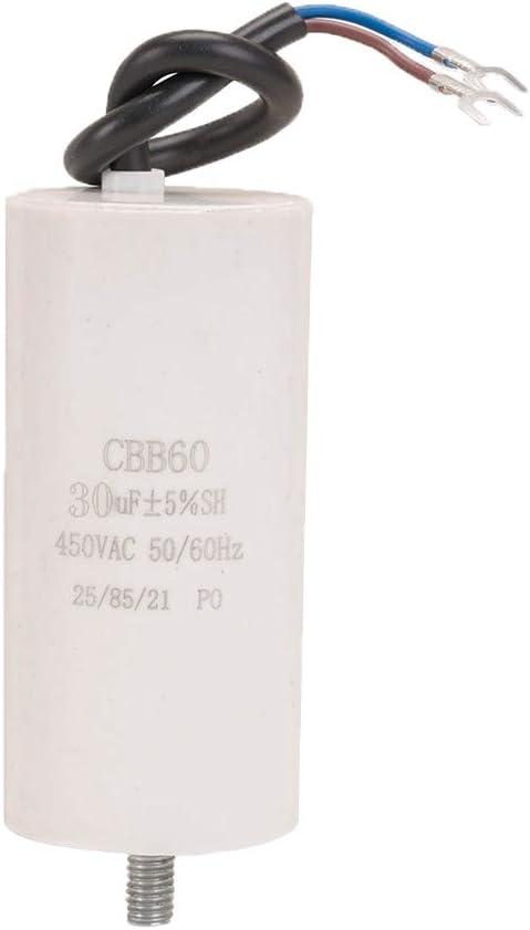 ICQUANZX 30uF CBB60 Washing Machine capacitorAC450V 50/60Hz Starting Capacitor Washing Machine Pump Motor(1PC)