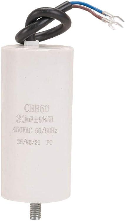 ICQUANZX 30uF CBB60 Condensador de Lavadora AC450V 50 / 60Hz ...