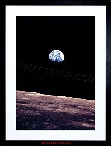 SPACE PHOTO PLANET EARTH LUNAR SURFACE MOON COOL USA FRAMED PRINT (Planet Earth Print)