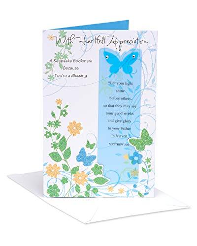 American Greetings Religious Heartfelt Appreciation Thank You Greeting Card with Rhinestones
