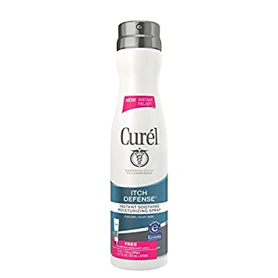 Curel Itch Defense Instant Soothing Moisturizing Spray for Dry Itchy Skin - 6 Oz