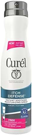 Curel Itch Defense Body Spray 6 oz with 1oz Lotion