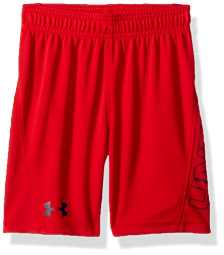 Short Fashion Solid Slim (Under Armour Little Boys' Kick Off Solid Short, Red, 4)