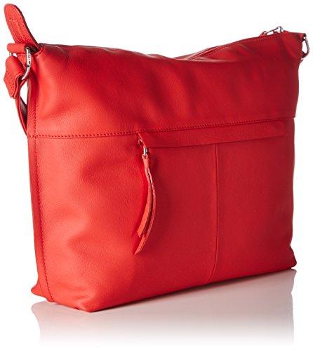 BREE Collection Toulouse 2, black smooth, cross sh. M - Bolso bandolera para mujer Rojo - Rot (red 151)