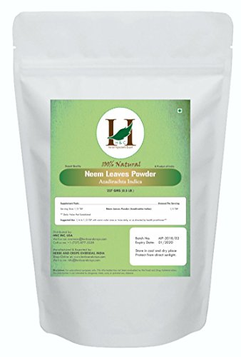 Price comparison product image H&C Natural and Organically Grown Neem Leaves Powder, 227 Grams (1/2 lb)
