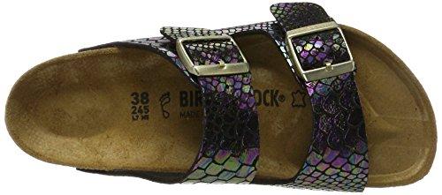 Birkenstock Womens Arizona Shiny Snake Black Multicolor Birko-Flor Sandals 40 EU Z1tWSvv