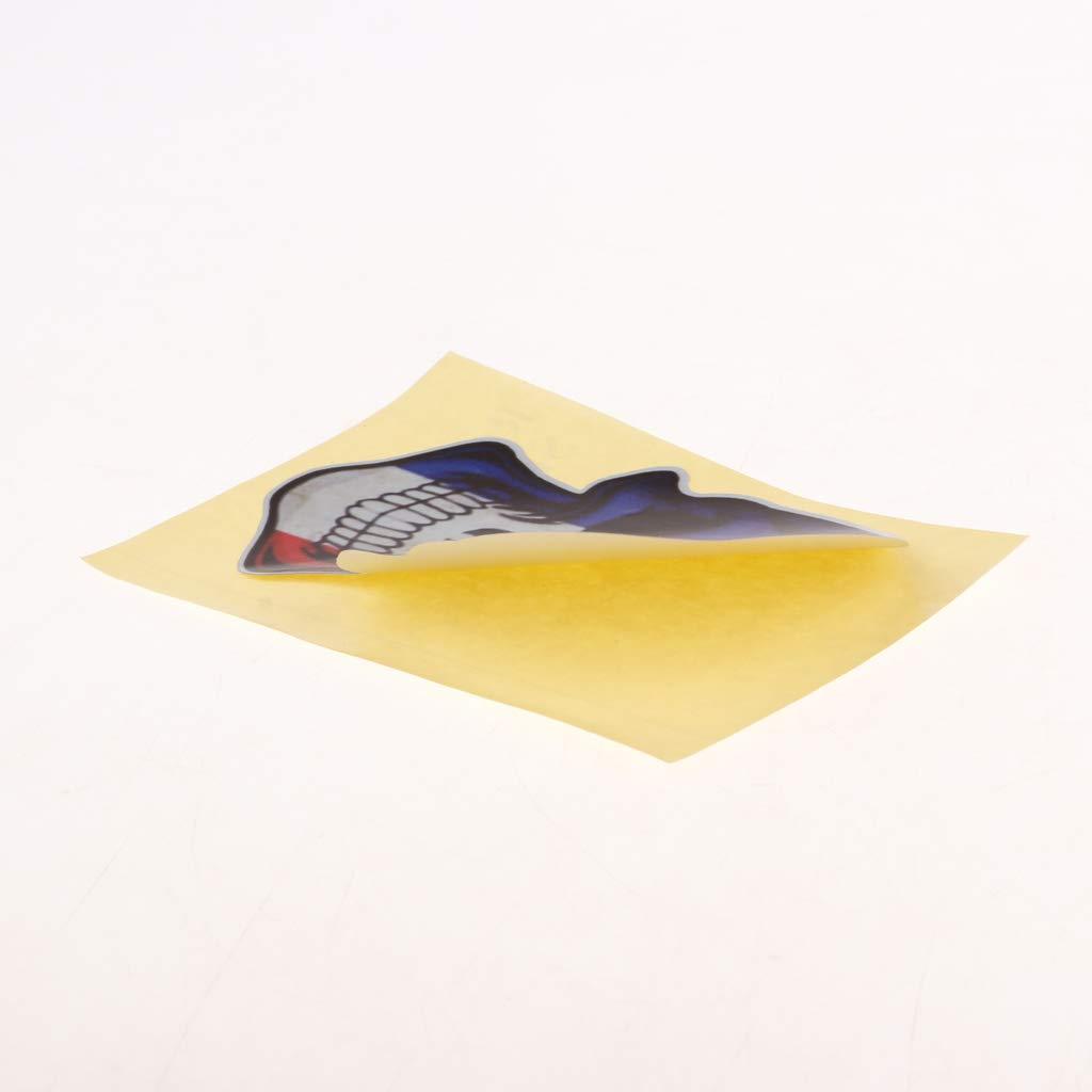 Ventana perfeclan Juego de 5 Pegatina de 3D Cr/áneo Impermeable y Reflectante para Aviso y Atenci/ón de Barcos Autos Yates
