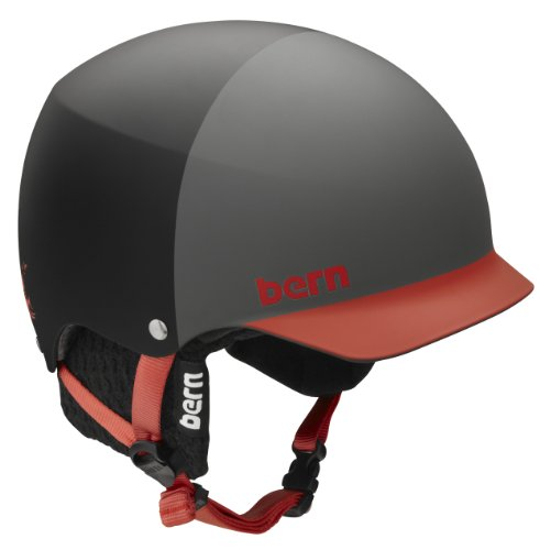 Bern Baker Seth Wescott Hatstyle EPS Matte Helmet with Audio (Black, Medium/Large), Outdoor Stuffs
