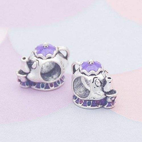 YOIL Elegante y Lina Decoración Accesorios de joyería DIY Tetera púrpura Gran Agujero Perlas Pulseras Cuentas