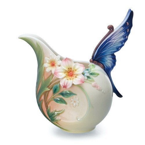 Franz Porcelain Fluttering Beauty Flower & Butterfly Creamer, FZ02037