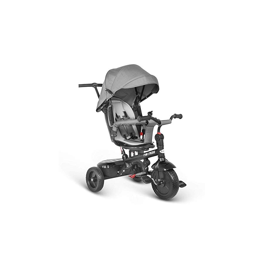 besrey Kids Trike 7 in 1 Push Stroller Baby Tricycle with Rotating and Reclining Seat for Children to Sleep in