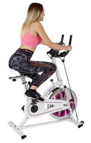 Body Xtreme Fitness Home Exercise Bike, Gym Equipment, Workout, Cycling, Training, Health #RUXTREME (White/Purple) Body Xtreme Fitness USA