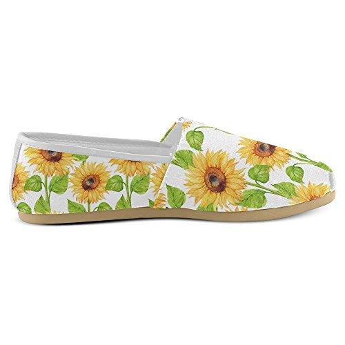 Mocassini Da Donna Di Interestprint Classico Su Tela Casual Slip On Fashion Shoes Sneakers Flats Sunflower