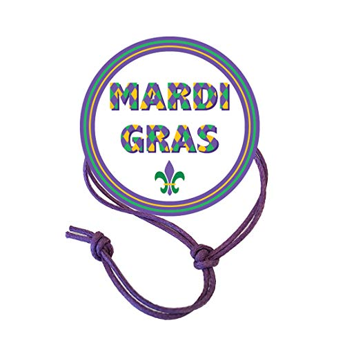 Napkin Knots Mardi Gras Decorations Napkin Ring - Circle Border (Pack of 10) (Standard)