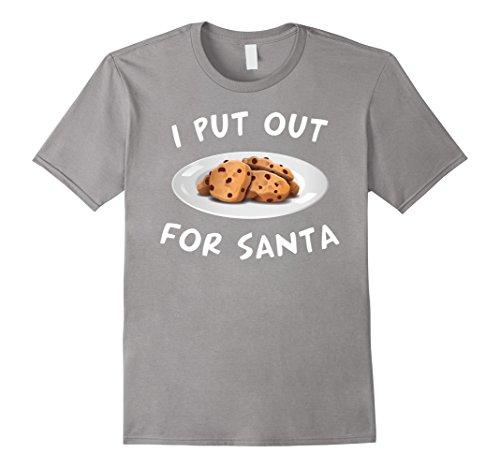 Zany Brainy: I Put Out For Santa | Funny Christmas Shirt - Male Medium - (Zanies Santa)