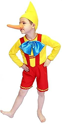 World Book Day-Fairytale PINOCCHIO PUPPET Child's Fancy Dress Costume - All Ages (AGE 3-4)