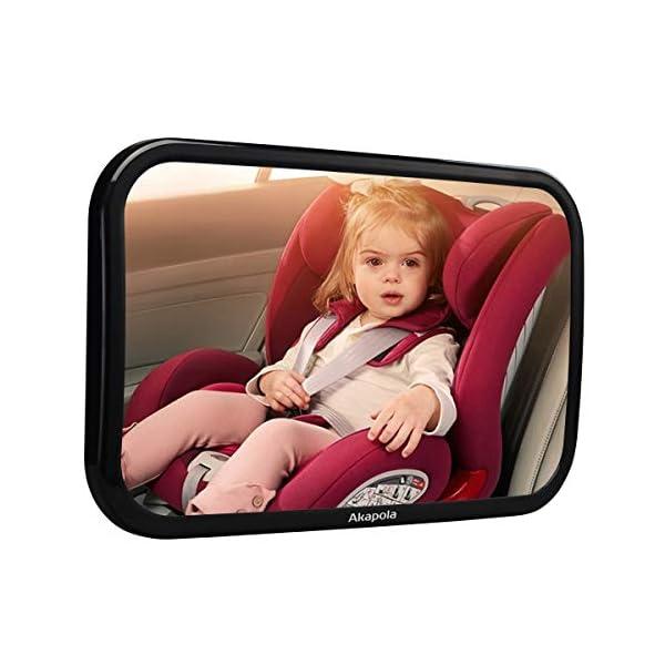 【Nuova Versione】 Akapola Specchietto Retrovisore Bambini, Specchio Auto Bambino, Specchietto Regolabile Neonato… 1