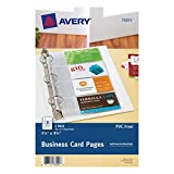 Avery Mini Business Card Pages, Clear, 5.5 x 8.5 inches, Pack of 5 (76025)