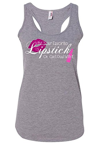Woman's Tank Top - Lipstick Quote by Joyful House Creations