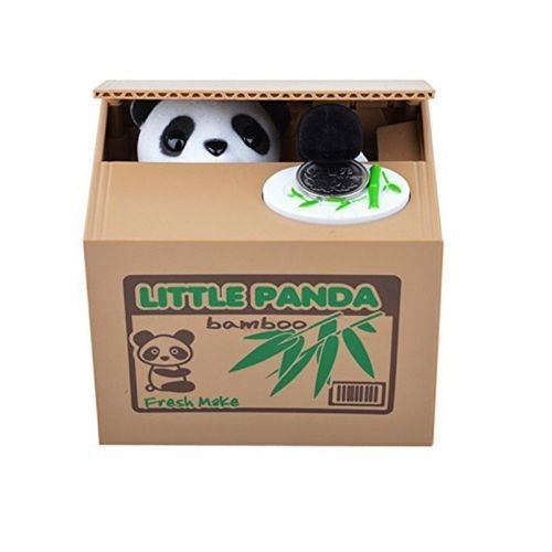 Automated Itazura Stealing Panda Coins Piggy Bank Money Saving Box Case ()
