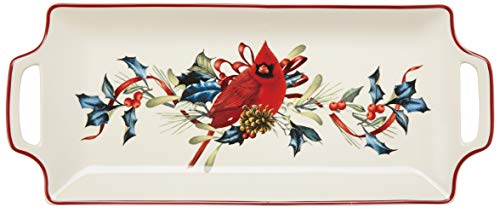 Lenox Ribbon - Lenox 880134 Winter Greetings Hors d'oeuvre Tray, Multicolor