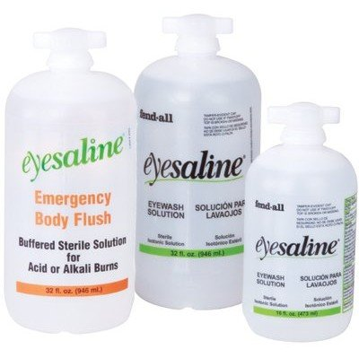 Bottle Fendall Refill Wash Eye (32 Oz. Refill, Eye And Face Wash Sterile Eyesaline - Lot of 12)