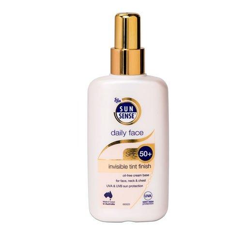 Sunsense Daily Face Invisible Tint Finish SPF 50+ Sunscreen (Oil Free Sunblock Sheer Tint)