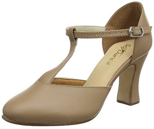 Danca Ch98 para Mujer Beige de Tap Zapatos Caramel So zSwqATT