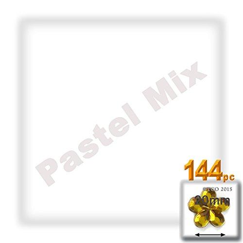 The Crafts Outlet 144-Piece Quality Acrylic Aluminum Foil Flat Back Flower Rhinestones, 20mm, Pastel Assortment