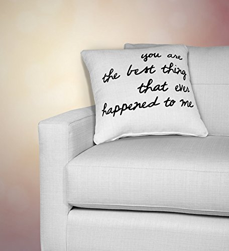 You are the best thing that ever happened to me Pillowcase, 16x16 inch decorative throw pillow cover, Wedding, Anniversary, Birthday, Valentine's Day, Chistmas - Birthday Card Tory Gift Burch