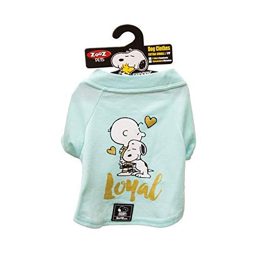 Camiseta Snoopy Charlie Zooz Pets para Cães Loyal Verde - Tamanho P