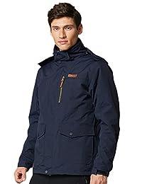 Men's 3-in-1 Windbreaker Warm Jacket Coat with Linner Outdoor Sporting Outwear
