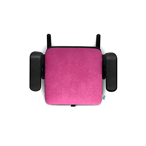 Clek Olli Backless Belt Positioning Portable and Compact Booster Car Seat with Latch, Flamingo