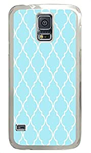 Samsung Galaxy S5 sell cases Pattern Blue Chevron PC Transparent Custom Samsung Galaxy S5 Case Cover