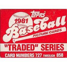 (1981 Topps Baseball Traded Series 132 Card Set. Loaded with Great Players Including Danny Ainge's Rookie (Yes, the Boston Celtic Star), Joe Morgan, Tim Raines, Fernando Valenzuela, Dave Winfield, Fred Lynn, Carlton Fisk and Others!)