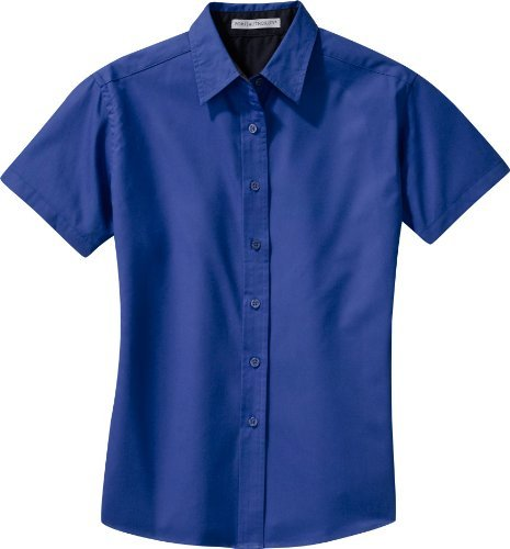 Port Authority - Ladies Easy Care Short Sleeve Shirt (L508), L, Royal/Classic Navy