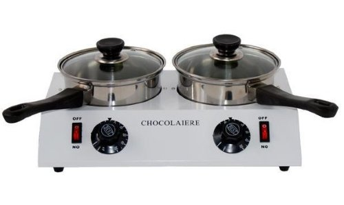 Gowe® 2 Pot Chocolate Melting Pot Top Quality, 2.5 Kg Chocolate by Gowegroup Chocolate Fountains (Image #2)