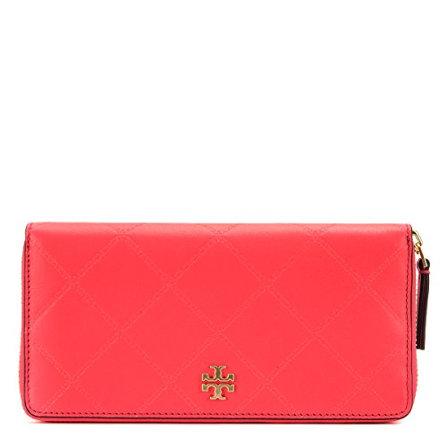 Tory Burch Georgia Zip Continental Wallet 39962-669 Dahlia Pink