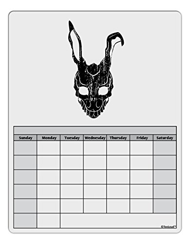 [TooLoud Scary Bunny Face Black Distressed Blank Calendar Dry Erase Board] (Easy Scary Costumes)