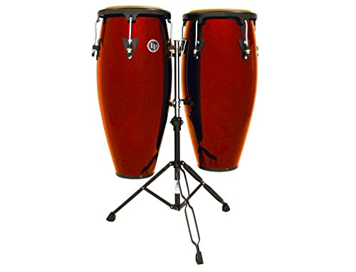 Lp Latin Percussion Aspire Wood Conga Set Red Stain (10 & 11 Inch) Aspire Wood Conga Set