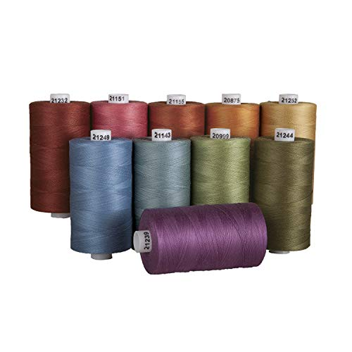 Connecting Threads 100% Cotton Thread Sets - 1200 Yard Spools (Country Garden - Set of 10)