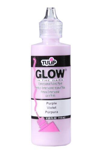 Tulip 29020 Dimensional Fabric Paint 4oz Glow Purple]()