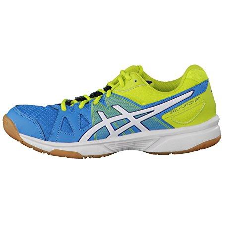 Asics Gel-upcourt Gs - Zapatillas de voleibol Unisex adulto SNORKEL BLUE/WHITE/FLASH YELLOW
