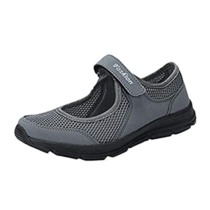 LILICAT Womens Running Walking Shock Absorbing Sports Performance Shoes Gym Mary Jane Trainers Summe...