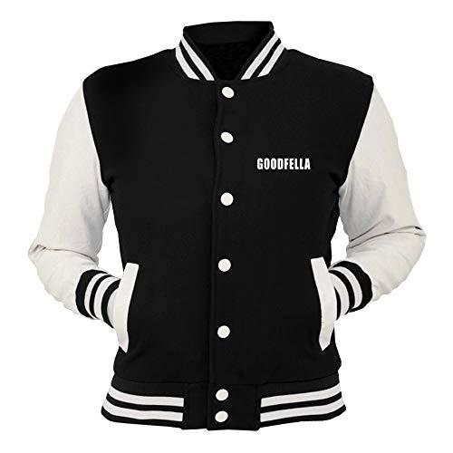 T College Goodfella Nera shirtshock Oldeng00516 Giacca zwSEzqxr