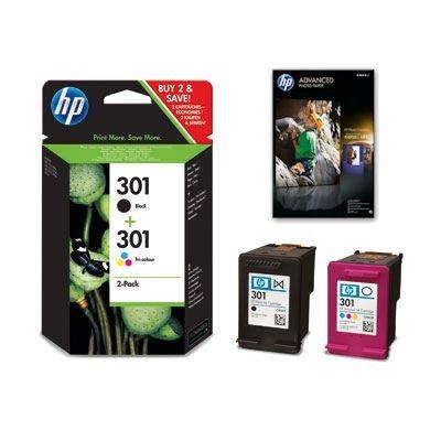 HP 301 2-pack Black/tricolor original Cartucho de tinta Combo ...