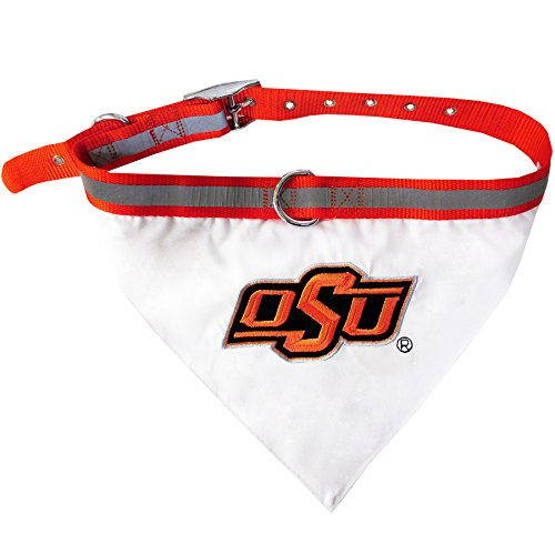 (Pets First Collegiate Pet Accessories, Collar Bandana, Oklahoma State Cowboys, Medium )