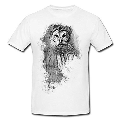 Eule T-Shirt Herren, Men mit stylischen Motiv von Paul Sinus