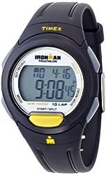 Timex Ironman Traditional 10-Lap Full-Size Watch - Black/Yellow