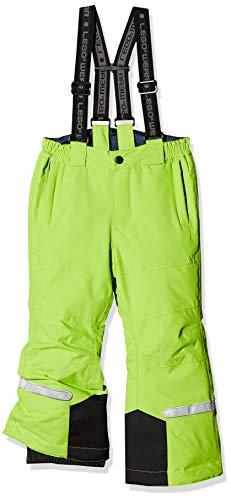 LEGO Wear Kids & Baby Tec Waterproof & Windproof Ski & Snow Pants with Detachable Suspenders, Lime Green, 5 Yr (Green Boys Snow Lime Pants)